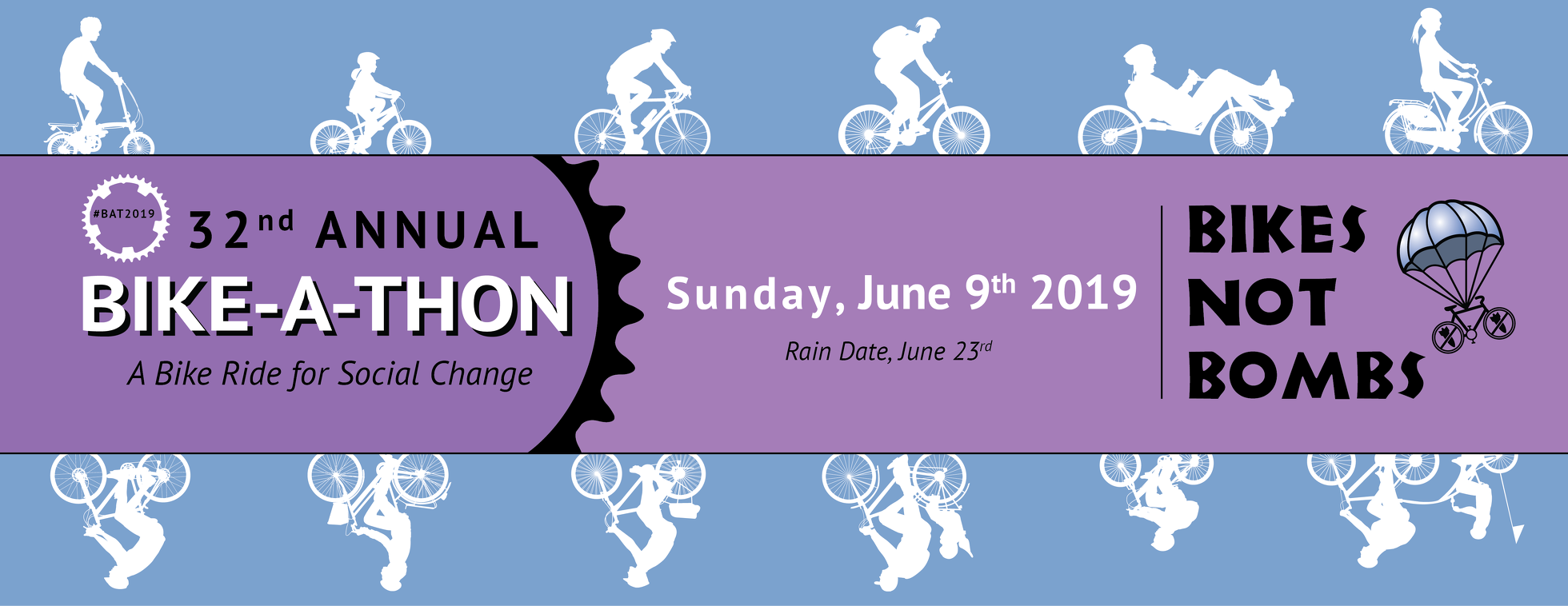 32nd Annual Bikes Not Bombs Bike-A-Thon 2019